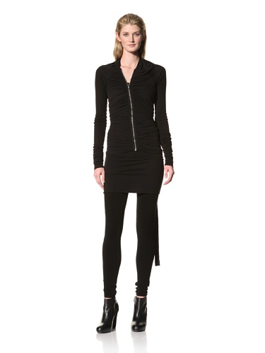 RICK OWENS Women's Asymmetrical Ruched Jacket (Black)