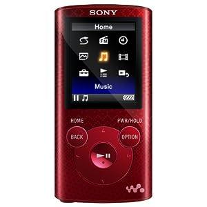 Sony NWZE384 8 GB Walkman MP3 Video Player (Red)