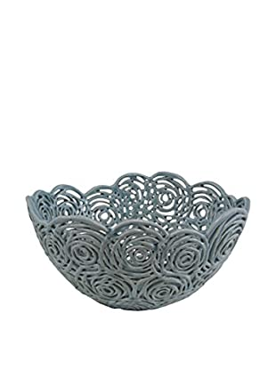 The Import Collection Rosette Bowl, Light Blue