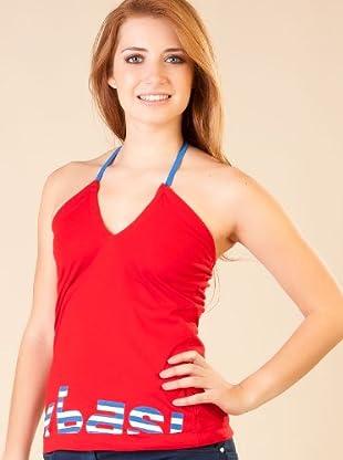 By Basi Camiseta Halter (Rojo)
