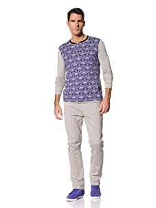Yigal Azrouël Men's Jacquard Knit (Cobalt Blue/Heather Grey)