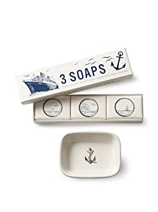 Izola Maritime Soap and Soap Dish Set