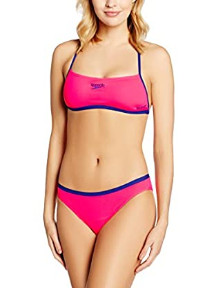 Speedo Bikini Crop Top Cross Back 2-Piece