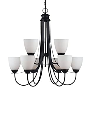 Sea Gull Lighting Uptown 9-Light Chandelier, Blacksmith