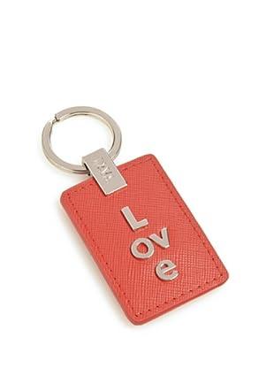 Nava Design Portachiavi Love Saffiano (Rosso)