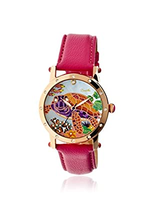 Bertha Women's BR4904 Chelsea Hot Pink/Multicolor Leather Watch