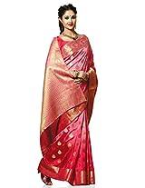 Meghdoot Artificial Silk Saree (SIYAA_MT1247_CHERRY Woven Pink Colour Sari)