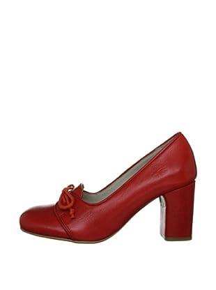 Fly London Zapatos Cordones (Rojo)