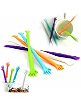 High Five Low Five Drink Stirrers - Multicolour - Pack of 5 - Cocktail Sticks, Party items.