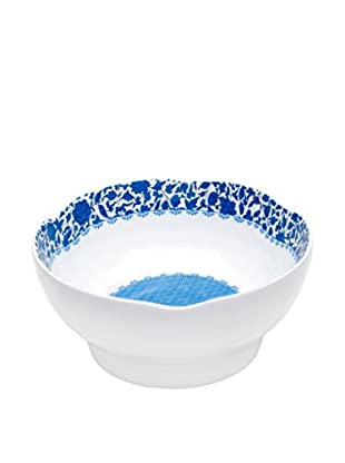 Q Squared NYC Blue & White Heritage Bowl