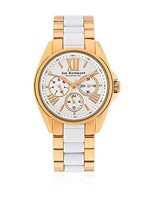 Joh. Rothmann Uhr mit japanischem Quarzuhrwerk  goldfarben/weiß 38 mm