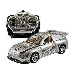 RECHARGEABLE REMOTE CONTROL CAR WITH REMOTE 4 CHANNEL WITH LIGHTS SILVER COLOR