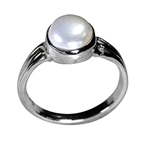Pearl Paradise Pearl Ring For Women (Silver)