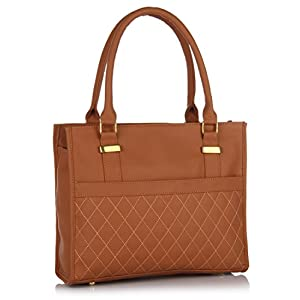 P.H.A.T. Tan Quilted Handbag