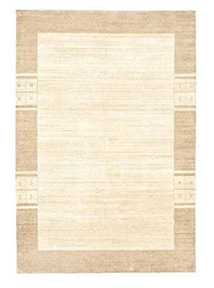 Hand-Knotted Luribaft Gabbeh Riz Wool Rug, Blue/Red/White, 5' 5