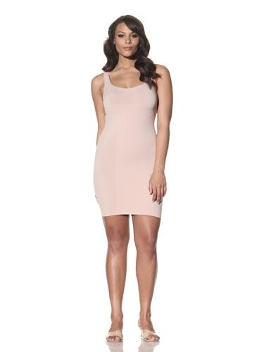 Cass Women's Skinny Scoop Neck Dress (Nude)