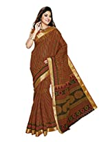 Suhanee Cotton Saree (Suhagan - 1015 _Brown)
