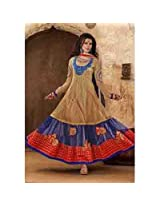 Brijraj Begie With Blue Suit For Women