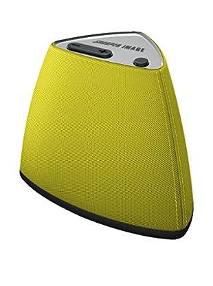 Sharper Image Vela Wireless Bluetooth Mini Speaker with Built-In MIC (Yellow)