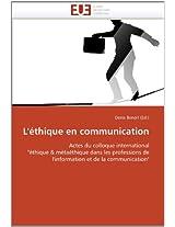 L''Ethique En Communication (Omn.Univ.Europ.)