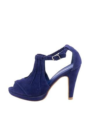 Liberitae Sandalias Peep Toe Champion (Azul)
