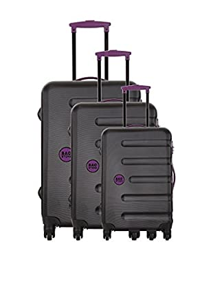 Bag Stone Set de 3 trolleys rígidos Moon