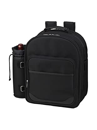 Picnic at Ascot London Picnic Backpack Cooler for 2, Black