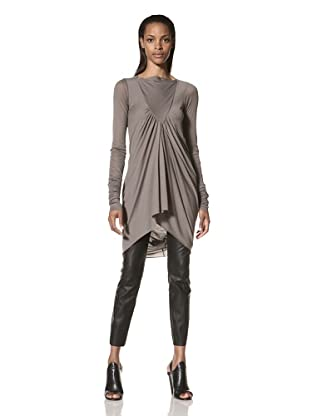 Rick Owens Lilies Women's Long Sleeve Gathered Front Tunic (Dark Dust)