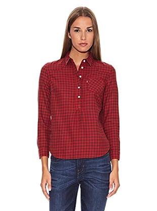 Levi´s Camisa Shrunken Western (Rojo)