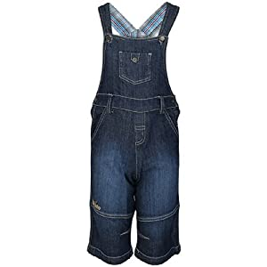 Solid Navy Blue Dungarees