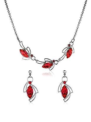 Swarovski Elements By Bohemian Love Story Conjunto de collar y pendientes Navette Fireflies