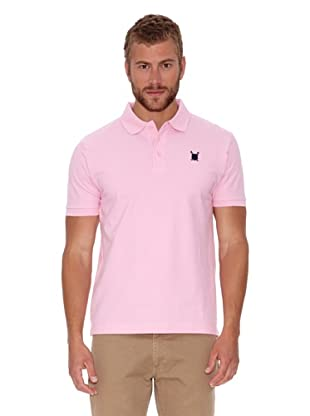Polo Club Polo Custom Fit Escudo Liso (Rosa)