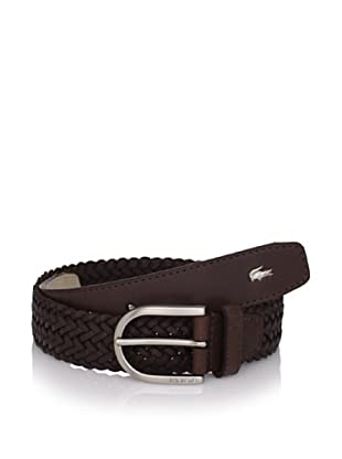 Lacoste Men's Leather Braid Belt (Brown)