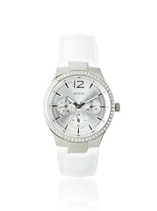 Guess Women's W11586L3 Balcony White/Silver Leather Watch
