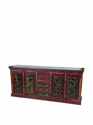 MOTI Historic Short 4-Carved Door & 5-Drawer Buffet