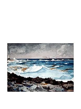 Legendarte Leinwandbild Homer Winslow - La Battigia E Il Surf