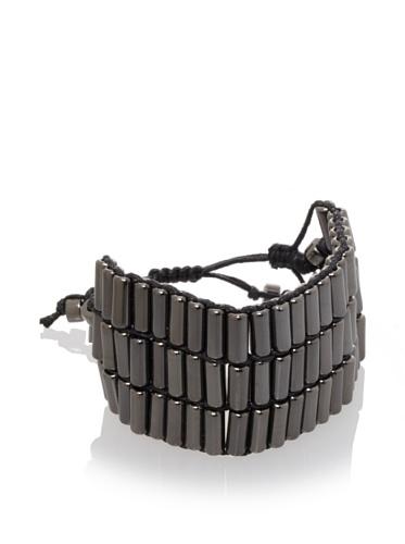 Shashi Three Row Military Bracelet, Black