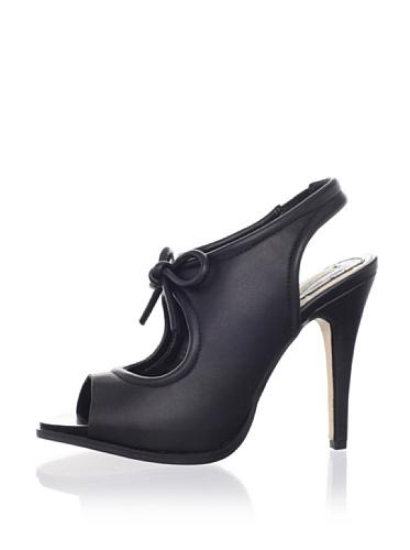 MaxStudio Women's Elizabeth Cut-Out Sandal (Black)