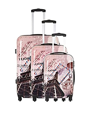 TRAVEL ONE Set de 3 trolleys rígidos Wickoff