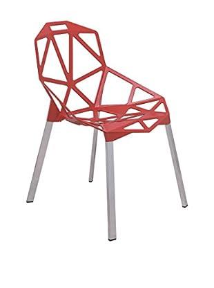 LeisureMod 3D Dalton Iron Chair