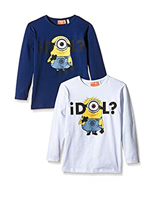 Fantasia Pack x 2 Camiseta Manga Larga Minions Boy