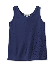 A for Apple Jam Tank with Scattered Ant Print (Blue)