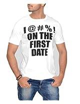 Londonhouze Men's Round Neck T-Shirt (LHW3D001XL_White_X-Large)
