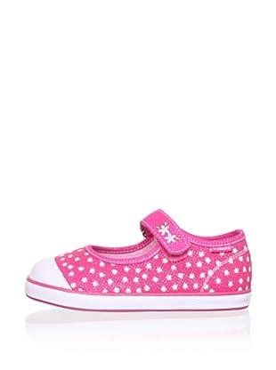 Pablosky Kid's Mary Jane Sneaker (Twill Fuchsia)