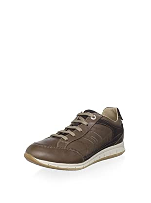 Geox Women's Contact Fashion Sneaker (Brown)
