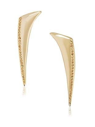 Katie Rowland Gold Lilith Long Fang Earrings