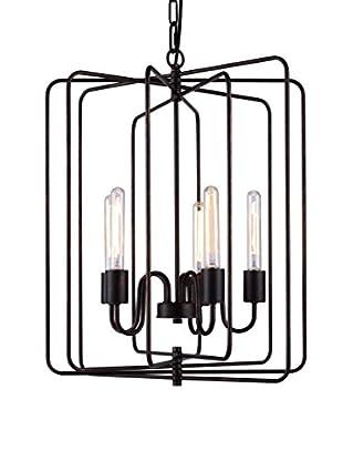Urban Lights Lewis 5-Light Pendant Lamp, Dark Bronze