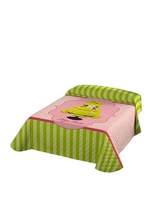 Maya Hansen Colcha Bouti Cakes 5 (Pistacho / Rosa)