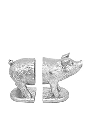Three Hands Resin Pig Bookends