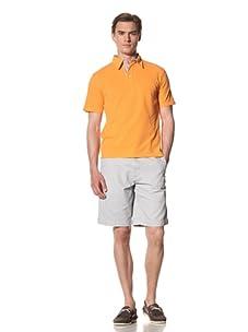 Report Collection Men's Pique Polo Shirt (Orange)